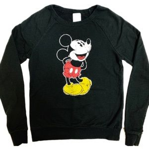 Disney Mickey Mouse Black Long Sleeve Sweatshirt